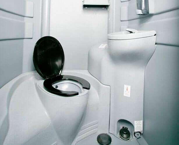 Inside Regular Porta Potty