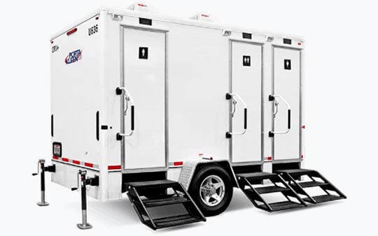 Luxury Restroom Trailer - Porta Potty Dogs