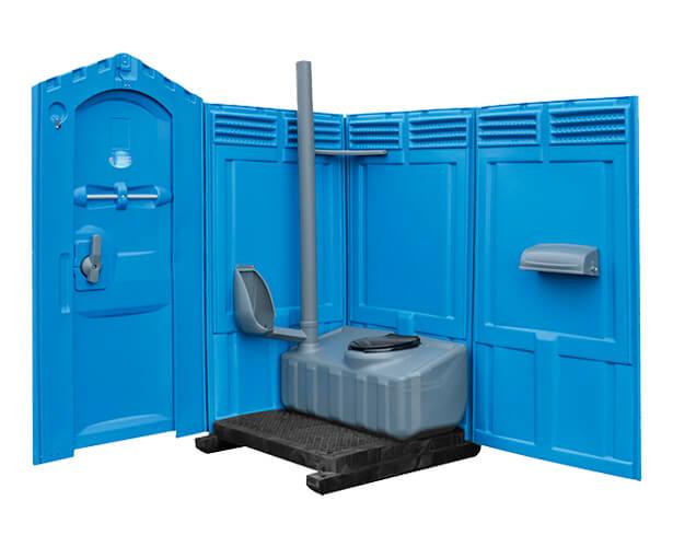 Inside Standard Porta Potty