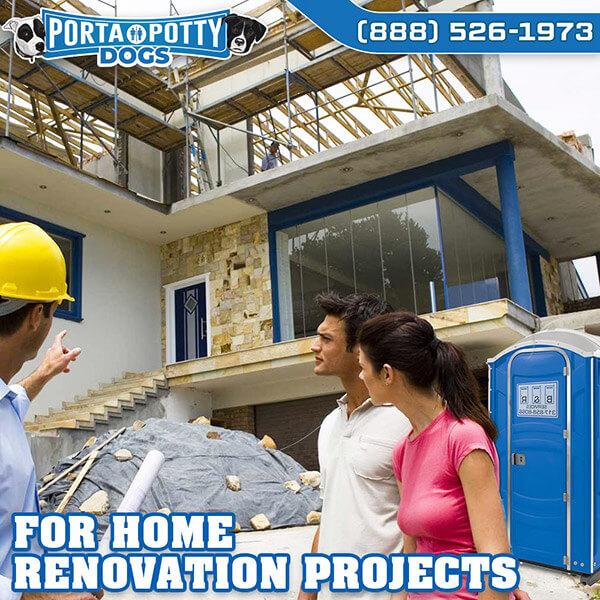 Renovation Project Porta Potty for Construction