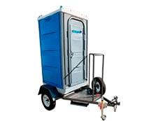 Porta Potty on Trailer