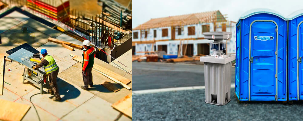 Portable Toilets & Restroom Rentals for Construction: Call Porta Potty Dogs!