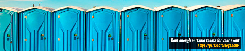 Rent Enough Portable Toilets for Your Event